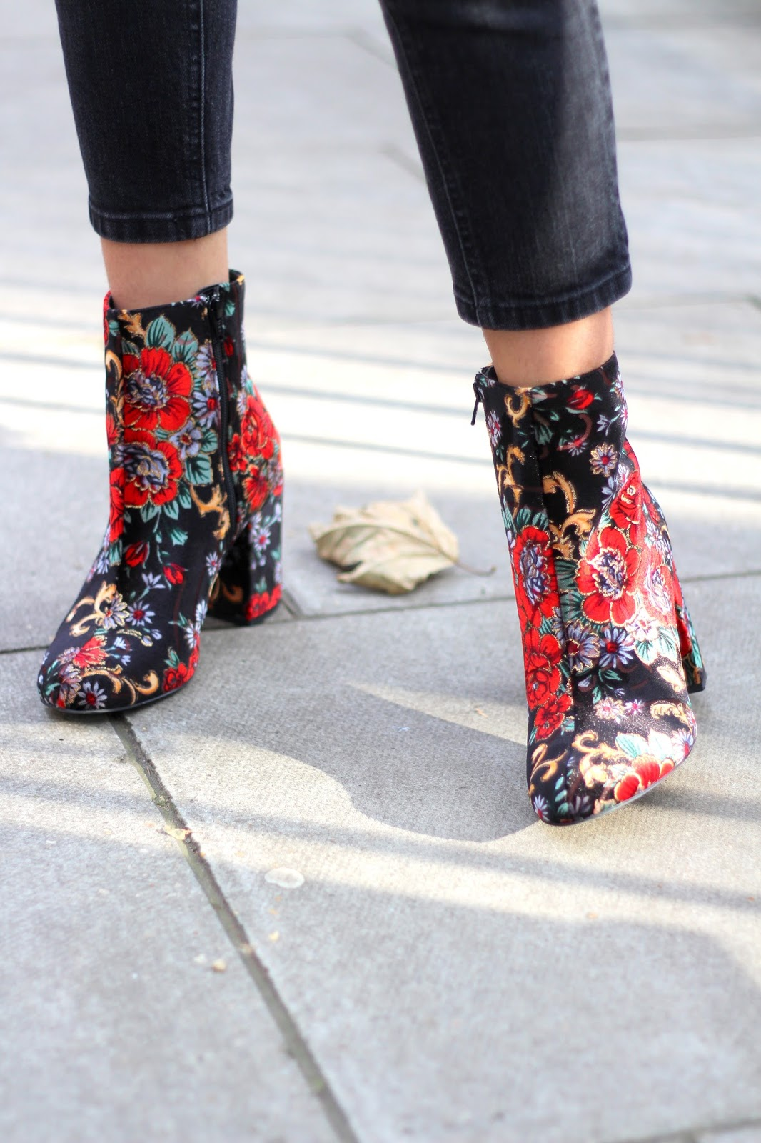 new look floral ankle boots peexo