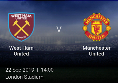 LIVE MATCH: West Ham Vs Manchester United Premier League 22/09/2019