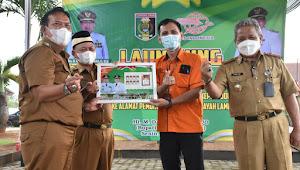 Bupati Lamtim Launching Kerjasama Disdukcapil dengan PT. Pos Indonesia