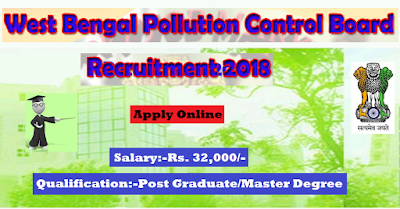 WBPCB Recruitment 2018 - Junior Research Fellow Posts - Apply Online-www.BengalStudent.in
