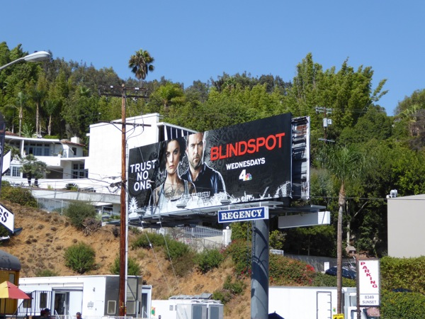 Blindspot season 2 billboard Sunset Strip