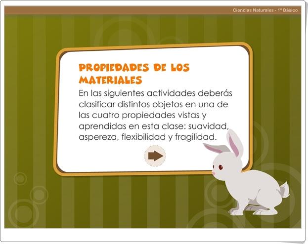"""""""Propiedades de los materiales"""" (Juego de Ciencias Naturales de Primaria)"""