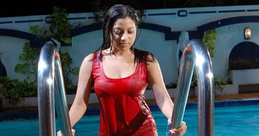 Actress Keerthi Chawla Hot Pics in Wet Dress Navel Queens