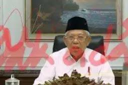 Wajah Maruf Amin Dicoret Tinta Merah