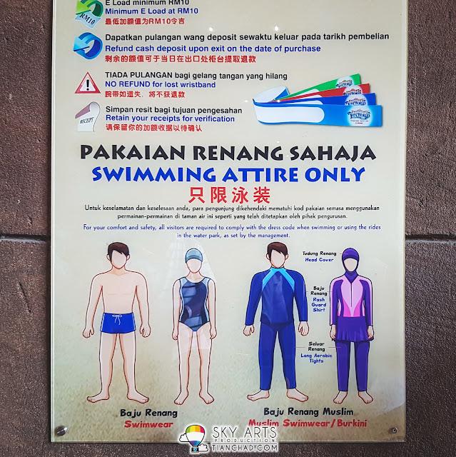 Lost World of Tambun dress code - swimwear and burkini