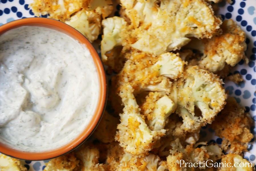 Cheesy Buffalo Cauliflower Chips