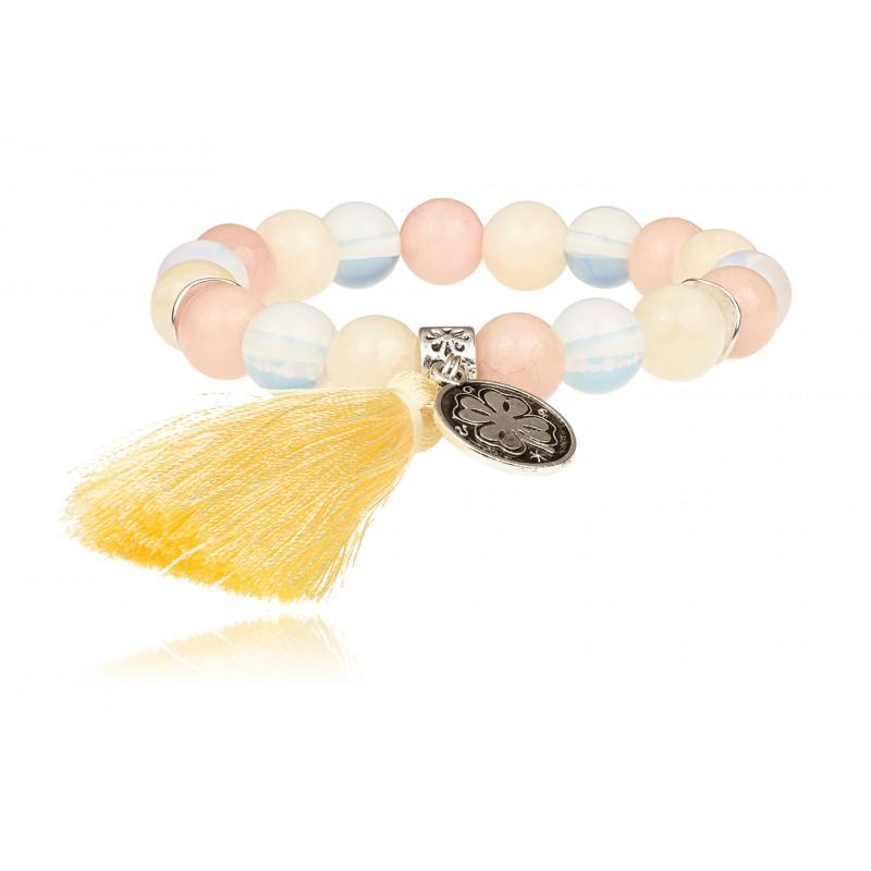 TopArt Jewelry pastelowa bransoletka z kamieniami naturalnymi, polska biżuteria, biżuteria handmade