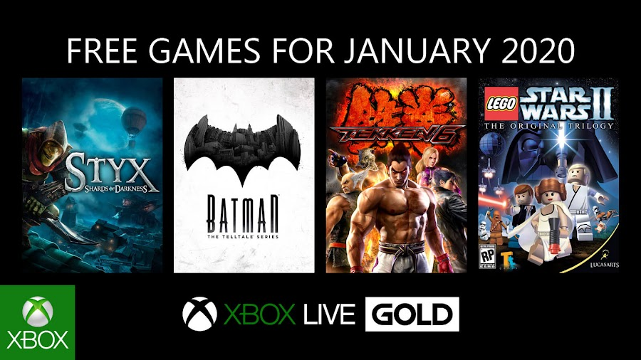 xbox live gold free games january 2020 batman the telltale series lego star wars 2 the original trilogy styx shards of darkness tekken 6