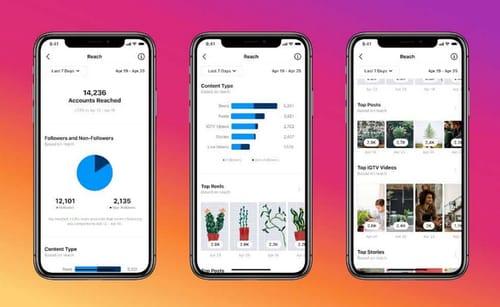 Instagram displays live video stats