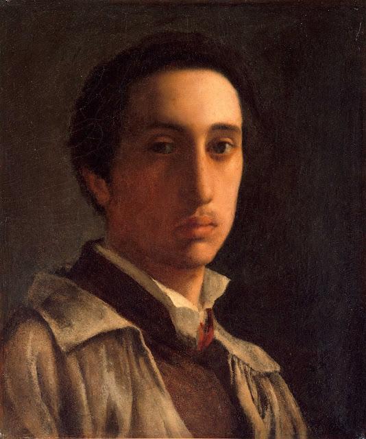 Эдгар Дега - Автопортрет (ок.1855-1856)