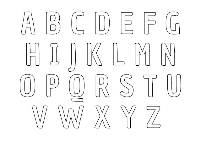 alfabeto maiúsculo