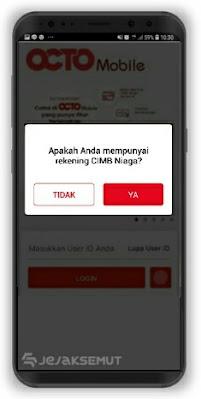cara memulihkan user id octo mobile