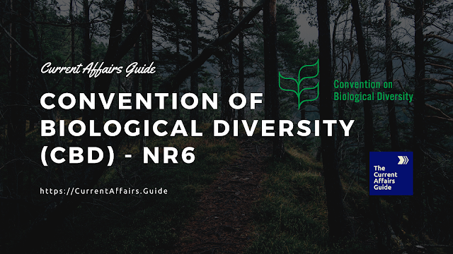 Convention on Biological Diversity (CBD) - Sixth National Report (NR6)