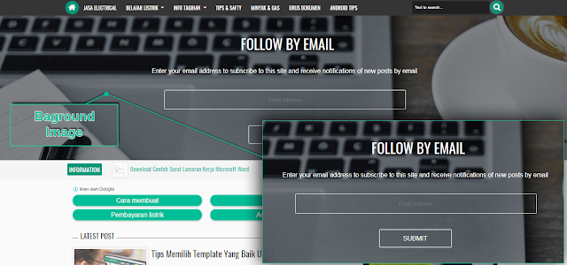 Get Newsletter Widget For Ijonkz Blogger Template