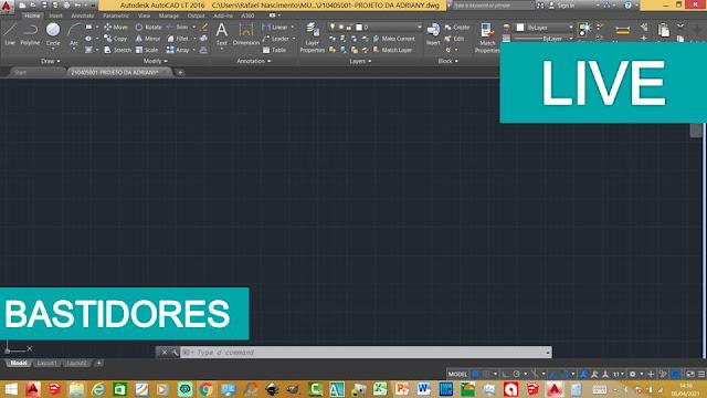 Bastidores: Criando um Projeto no AutoCad #LIVE