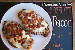 Parmesan Crusted Chícken wíth Bacon