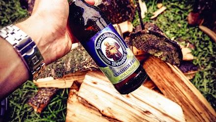 Holzhacken - Meine erfrischende Auszeit mit Franziskaner Weissbier