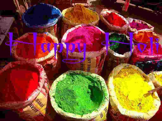 Holi written images