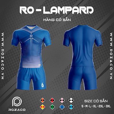 Áo Không Logo Rozaco RO-LAMPARD Màu Xanh Bích