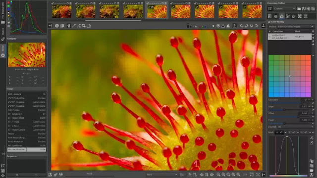 RawTherapee - raw image processing program