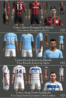 Faces + Tattoo Pack V1 Pes 2013 By Nikadim