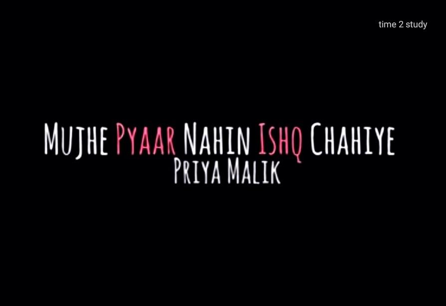 Mujhe pyaar nahin Ishq chahiye (In English)