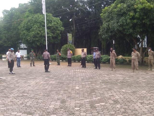 Apel Pagi Polsek Padang Hulu Koramil 13 Satpol PP  Kota Tebing Tinggi