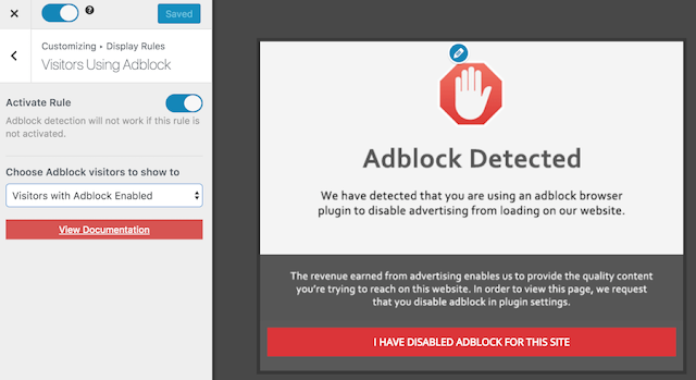 please disable adblock