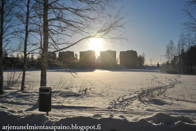 aurinko, talvi, ulkoilu, hyvinvointi, jaksaminen, lepo