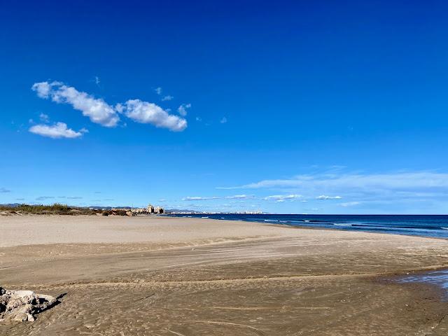 Beach in Valencia, Spain
