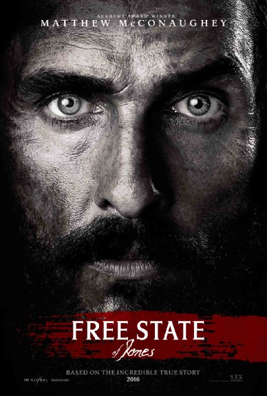 Poster of Free State of Jones 2016 HDCAM English 1.3GB x264 Watch Online Full Movie Download Worldfree4u