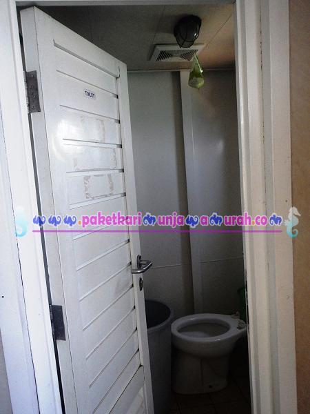 toilet bersih di kapal feri siginjai