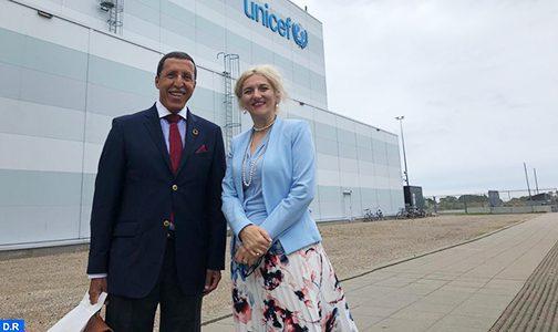 Le Président du Conseil exécutif de l'UNICEF, Omar Hilale, en mission à Copenhague