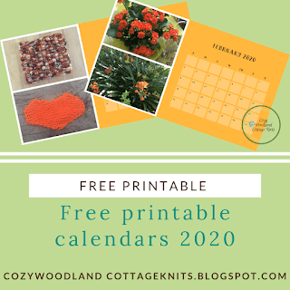 Picture of free printable calendars 2020