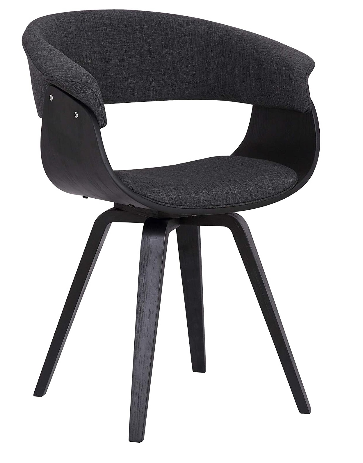 Best ideas Black Minimalist livingroom contemporary Chair with charcoal fabric and Walnut wood finish 2