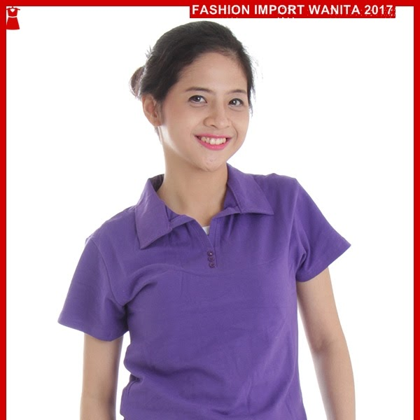 ADR141 Kaos Wanita Ungu Polo Wanita Import BMGShop