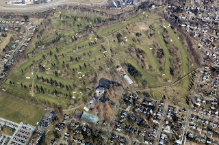 Aerial View of the Octagon Earthworks. Image Courtesy of Tim Black.