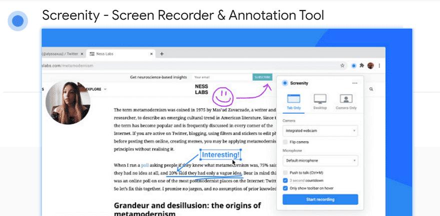 Screenity 免費開源螢幕錄影工具