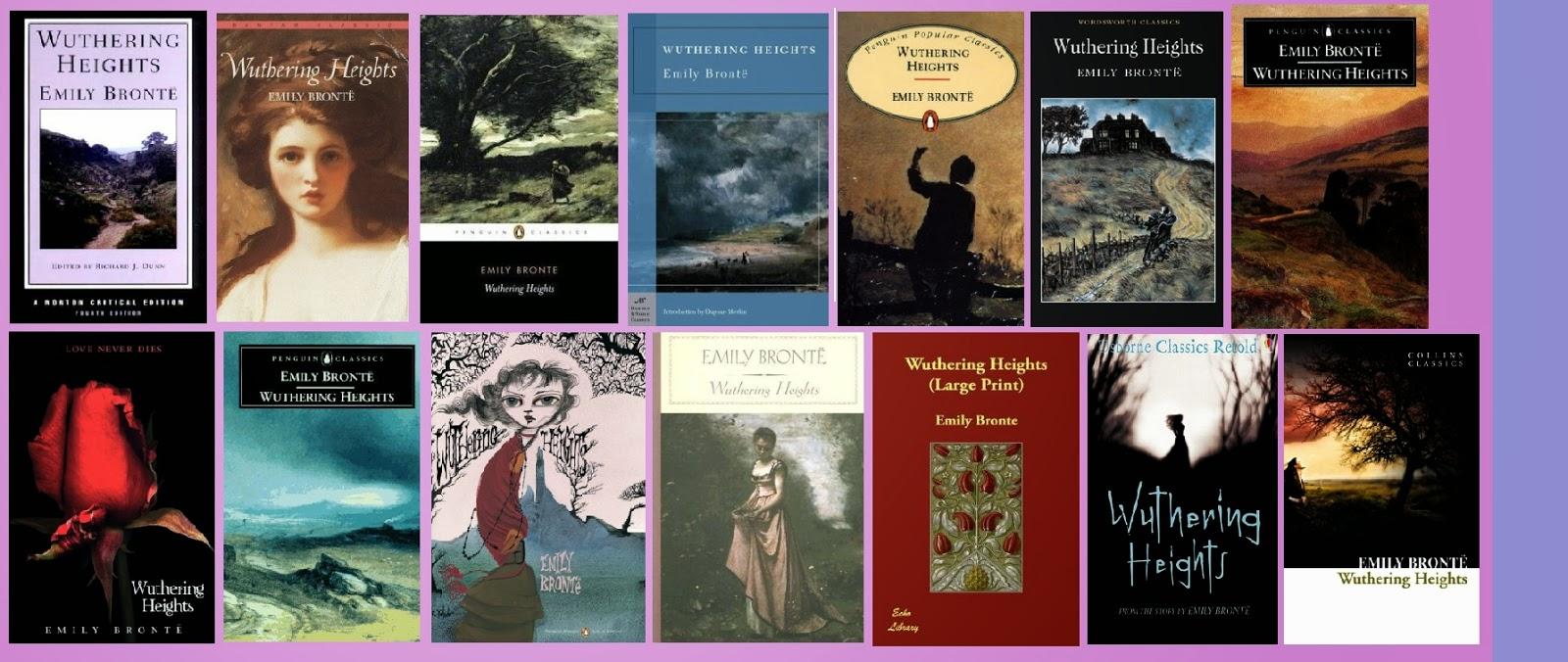 portadas de la novela clásica sentimental Cumbres Borrascosas, de Emily Brontë