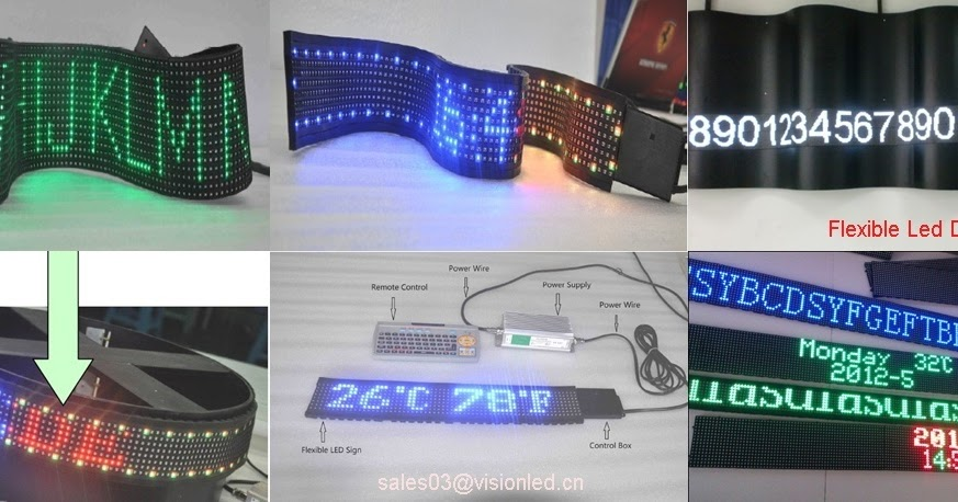 PetroLed: Flexible led display screen indoor P7 62mm, Led message board