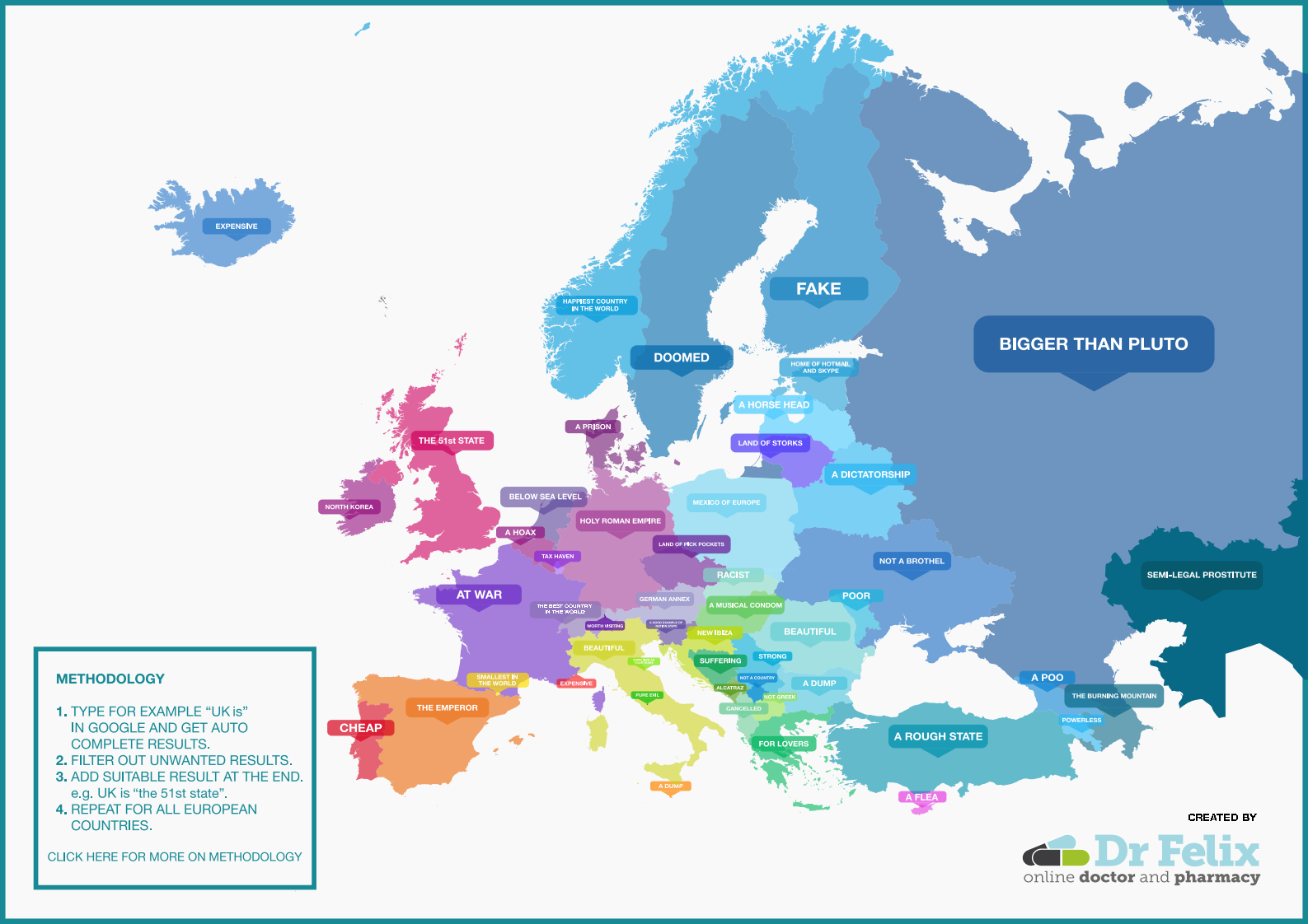 What Google autocomplete thinks of each European country