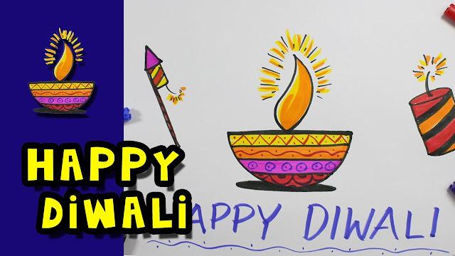 Diwali Drawing For Kids