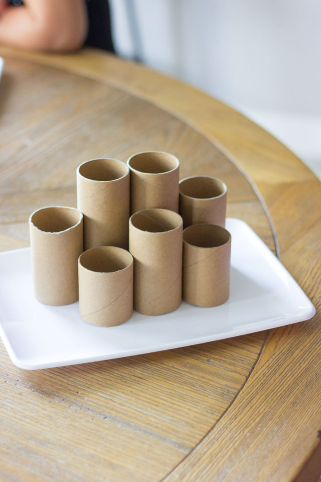 How to make a toilet paper roll desk organizer