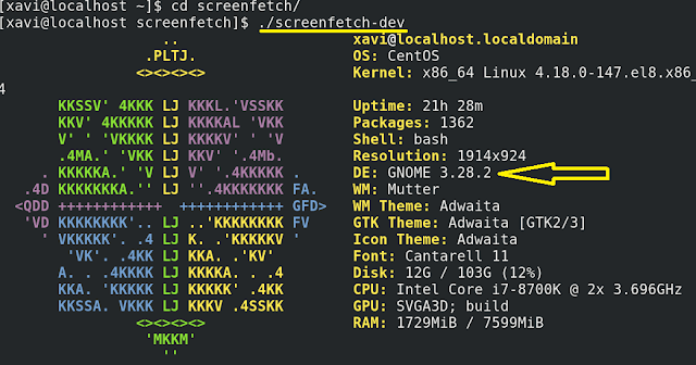 Linux: Cómo saber que escritorio tengo