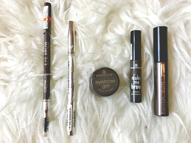 drugstore, eyebrow product, catrice eyebrow, essence gel mascara, essence make me brow, cyber colors