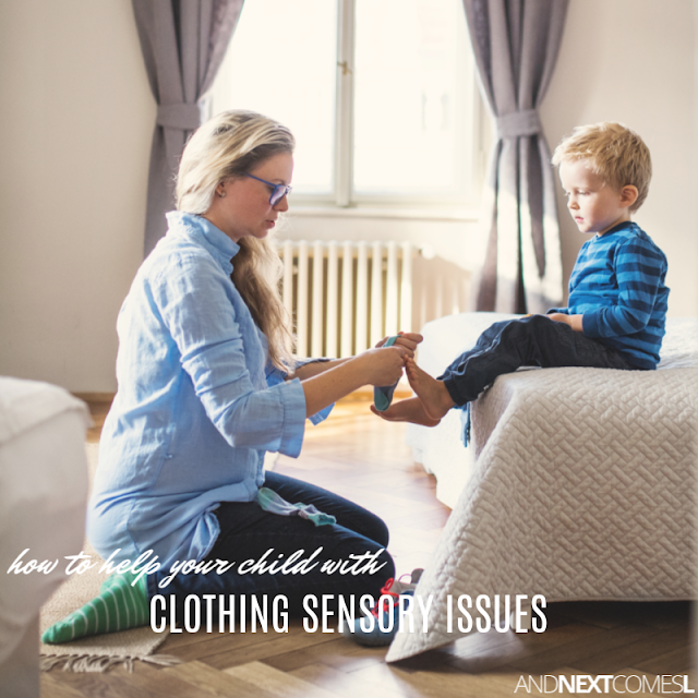 Clothing sensory issues in children with autism or sensory processing disorder