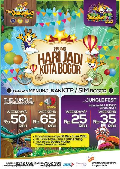 The Jungle Promo Hari Jadi Kota Bogor