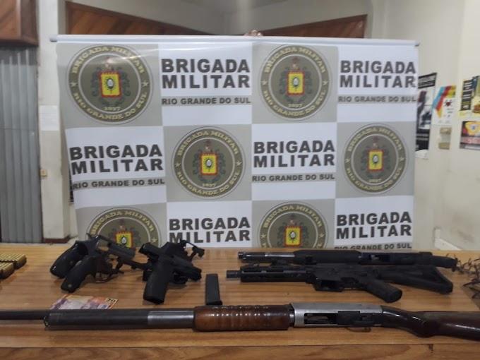 Após perseguição e tiroteio, três são presos pela BM no Rincão da Madalena em Gravataí