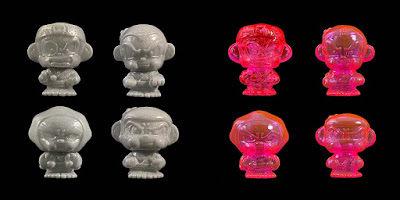 San Diego Comic-Con 2019 Exclusive Hyperactive Monkey and Friends Sofubi Mini Figures by Jerome Lu – GID, Silver & Hot Pink Colorways!