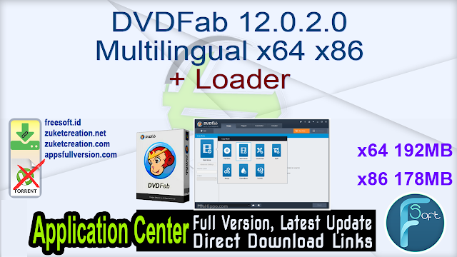 DVDFab 12.0.2.0 Multilingual x64 x86 + Loader